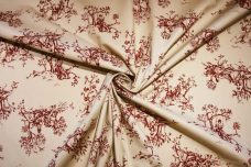 French Toile Stretch Poplin