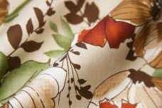 Large Earthy Floral Stretch Poplin