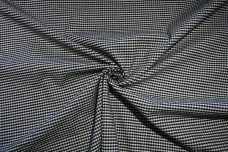 "1/8"" Black & White Gingham Stretch Twill"