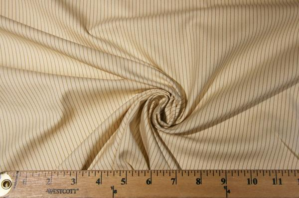Butter & Gold Cotton Twill Stripe