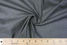 Faded Slate Micro Pinstripe Stretch Twill