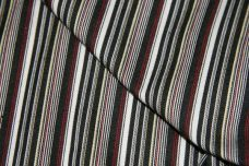 Black & Red Chambray Stretch Twill Stripe