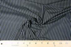 Black & White Stripe Stretch Poplin