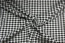 Digital Houndstooth Polished Twill