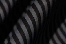 Small Black & Medium Grey Stripe Twill