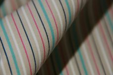 Small Multi Stripe Stretch Twill