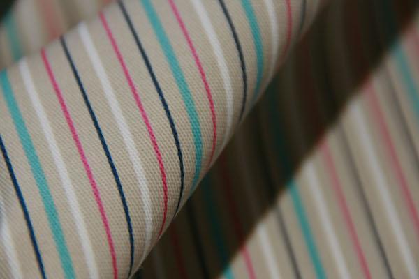 Small Multi Stripe Stretch Twill
