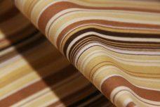 Brown Bias Stripe Stretch Poplin