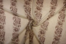 Raffia Floral Stripe Cotton/Silk Gauze