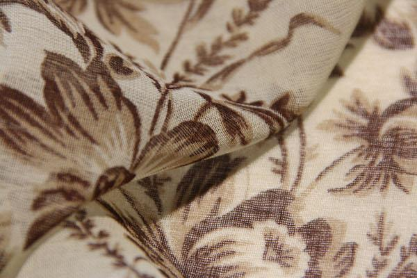 Raffia Floral Stripe Cotton/Silk Gauze