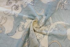 Fog Silk/Cotton Floral Voile