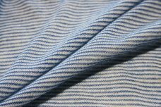 Royal & White Pinstripe Tissue Knit