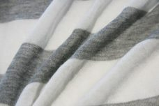 Jumbo Grey & White Stripe Tissue Knit