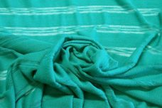 Aquamarine Tissue Stripe Sweater Knit