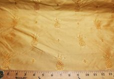 Mango Pineapple Pattern Duponi Silk