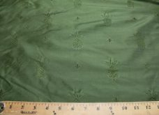 Forest Green Pineapple Pattern Duponi Silk