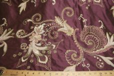 Purple Embroidered Duponi Silk