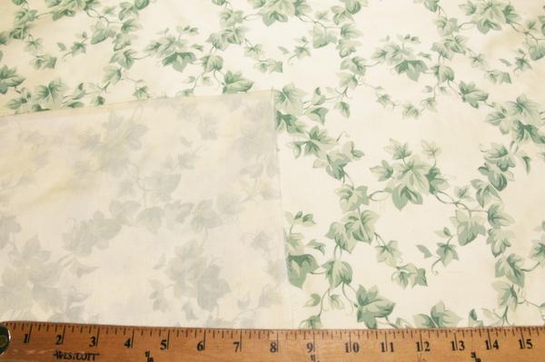 Cream Vine Printed Duponi Silk