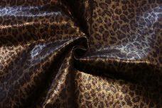 Denim-backed Metallic Cheetah Faux Suede