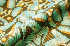 Mint Butterfly Polished Cotton