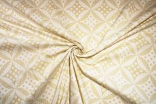 Geometric Dot Damask Twill - Beige