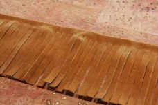 """3"""" Double-sided Faux Suede Fringe - Chestnut"""