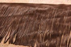 "5 1/8"" Double-sided Faux Suede Fringe - Brown"