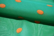 Medium Polkadot Chiffon - Kelly & Orange