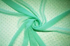 Dotted Swiss Chiffon - Mint