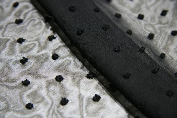 Dotted Swiss Chiffon - Black