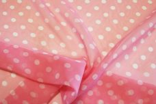 Medium Polkadot Chiffon - Light Pink