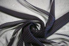 Pindot Chiffon - Black & Purple