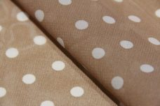 Medium Polkadot Chiffon - Latte