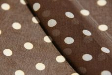 Medium Polkadot Chiffon - Brown