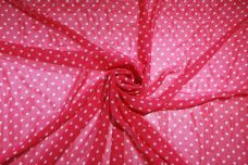 Medium Polkadot Chiffon - Hot Pink