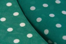 Medium Polkadot Chiffon - Teal