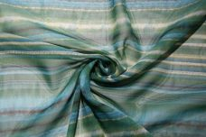 Watercolor Stripe Chiffon - Ocean