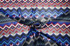Bold Grunge Geometric Stripe Chiffon
