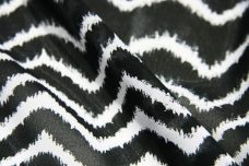 Grunge Wave Chiffon - Black & White