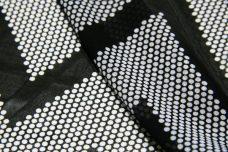 Polkadot/Chevron Chiffon - Black & White