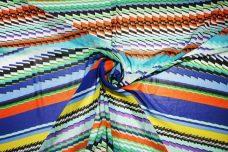 Bold Geometric Stripe Chiffon