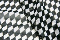 Black & White Harlequin Chiffon