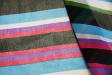 Various Stripe Chiffon - Turquoise & Hot Pink
