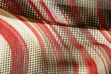 Red & Brown Wavy Halftone Chiffon