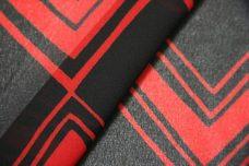 Various Chevron Chiffon - Black & Red