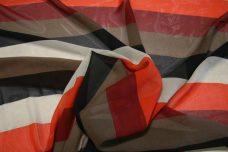 Jumbo Stripe Chiffon - Burgundy