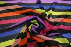 Large Stripe Chiffon - Bright