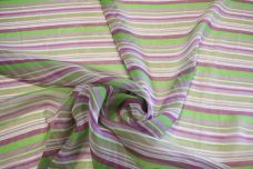 Various Stripe Chiffon - Purple & Green