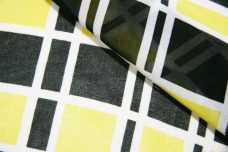Plaid Chiffon - Black & Yellow