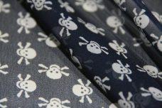 Mini Skulls Chiffon - Dark Navy